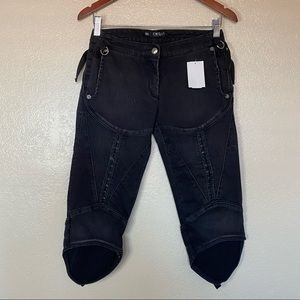 CNC Costume National Black Capri Pants 26 NWOT